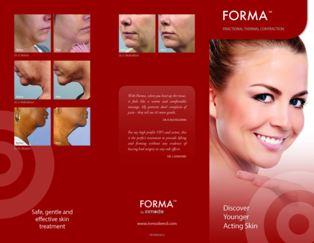 Forma advertising brochure with sample pictures