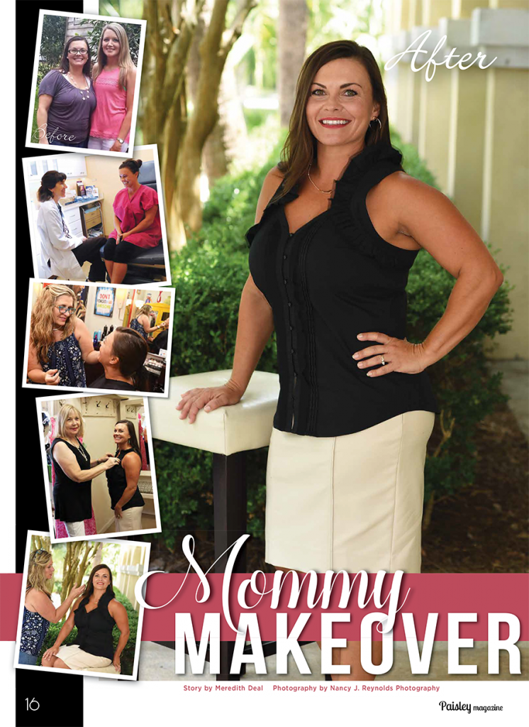 mommy makeover cover photo lady with black top white skirt