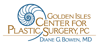 golden center for plastic surgery logo with transparent background