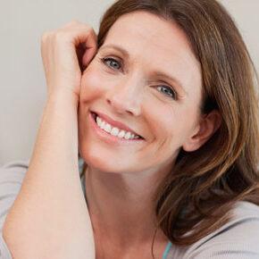 Woman after receiving botox